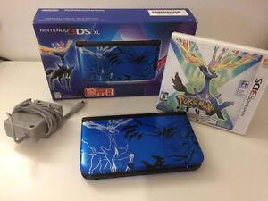 Nintendo 3DS XL PKMN X limited Edition With Pokemon X