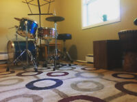 Beginner to Intermediate drums lessons in North End Halifax