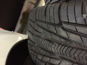 (2) Goodyear all weather tires 205/55r16