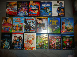 DISNEY AND OTHER DVDS AND BLURAYS