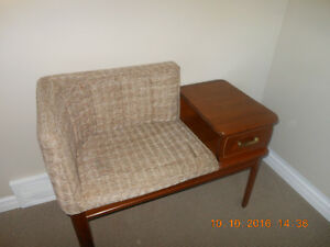 Old Fashioned Telephone Table & Seat