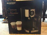 Silvercrest espresso brand new coffee machine
