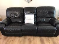 Leather 3 seater sofa x 2.....3 seaters
