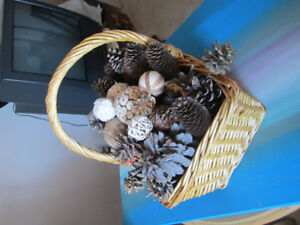 basket full of acorn and other nik naks