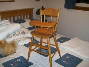 Solid Oak Doll High Chair Kitchener / Waterloo Kitchener Area image 1