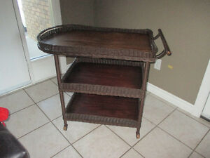Vintage Wicker Tea Trolly