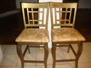 Two High Dining Chairs / Bar Stools