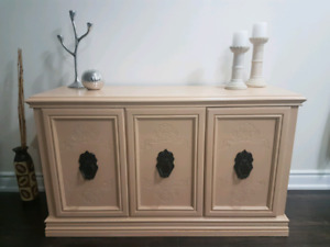 Stunning refinished solid buffet / TV stand BEST OFFER