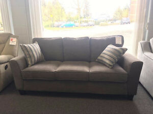 GREAT DEAL ON GRAY CHENILLE SOFA
