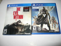 Destiny and The Evil Within for PS4