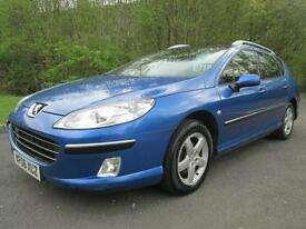 06/06 PEUGEOT 407 1.6 HDI SE SW ESTATE IN MET BLUE WITH SERVICE HISTORY