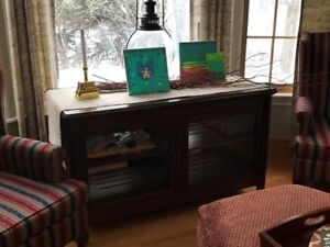 Media Cabinet - For Sale ** Solid Wood with Glass Doors**