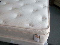 BRAND NEW DOUBLE/QUEEN ORTHOPEDIC 4'' PILLOW TOP MATTRESS & BOX
