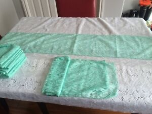Mint Lace Table Runners