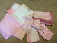 Lovely baby girl cotbed bedding bundle