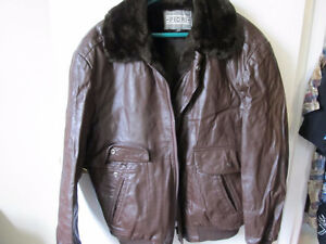 fiori brown leather jacket