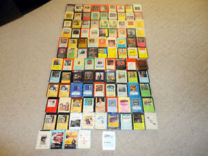 103 8-Track Tapes Rock Country etc. + Case