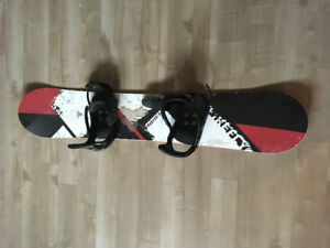Firefly board, bindings, boots, helmet and goggles. Complete set