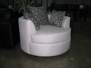 Crystal cuddle chair, over 200 fabrics to choose from,made in BC