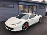 2013 Ferrari 458 4.5 ( 570ps ) Auto Seq Italia **White - £££ OF EXTRAS**