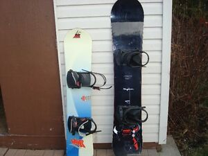 2 snowboards 125$ chaque