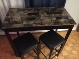 Bar height 2 seater table