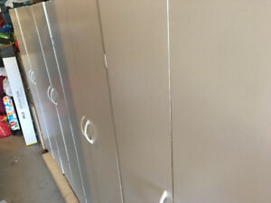 Storage cupboards x 4 for garage or basement