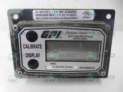 Gpi A109gma200na2 Flow Meter Used