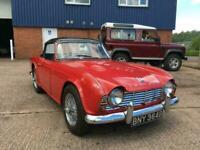 1964 Triumph TR4, Surrey Top, Red/Black