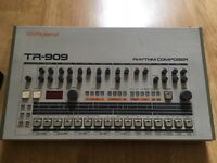 Roland Tr909 Tr-909 Rhythm Composer Analog Drum Machine