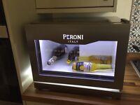 Peroni glass chilling fridge