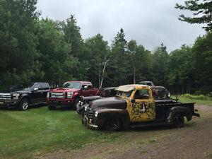 1950 Chevrolet, 1965 Ford, 1934 Ford, 1938 Chev Trucks