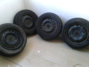 Four, 16 Inch steel rims $100