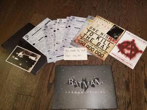 batman origins art book and kill order. collector editon