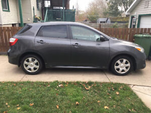 2010 Toyota Matrix wagon with winter tires
