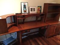 Office Desk with matching bookshelf and small desk