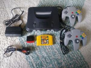 Nintendo 64, donkey kong 64, 2 manette, expansion pak