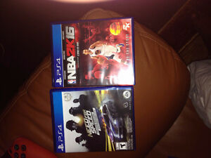 ps4 games: need for speed deluxe edition and nba 2016
