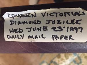 Newspaper from June 23, 1897 Queen Victoria Jubilee