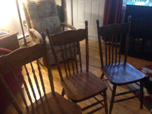 3 Bass River press-back chairs