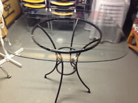 """""""Reflections"""" Glass table with base"""
