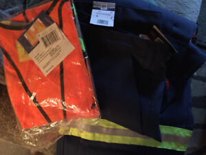 RF RATED men's pants and safety vest