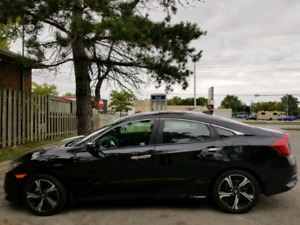 HONDA CIVIC TOURING 2018 BLACK Leased on Monday. 375/Month 5 Yrs