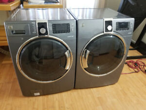 Kenmore grey front load washer electric dryer stackable combo
