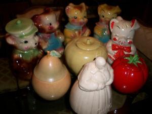 9 Vintage Cookie Jars