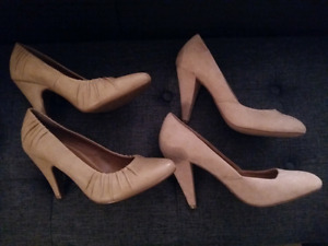 2 pairs of heels. Size 7 1/2