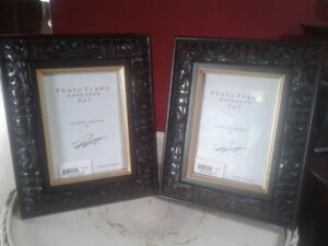 Beautiful Pair of Wood Carved 5x7 Picture Frames. New