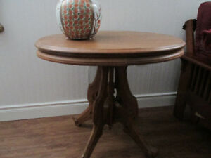 Table, walnut anitque about 90 years old  $60.00