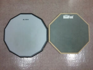 Practice pads for feet and hands. SoundOff pads for drums.