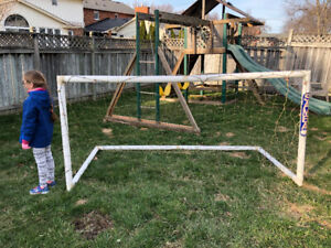 Two soccer goalies to go - quickly assembled!